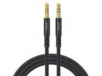 Cablu Audio 3.5 mm la 3.5 mm Joyroom SY-20A1, TRS - TRS, 2 m, Negru