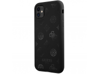 Husa TPU Guess Tone on Tone Peony pentru Apple iPhone 11, Neagra GUHCN61LSPEBK
