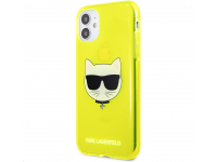 Husa TPU Karl Lagerfeld Choupette Head pentru Apple iPhone 11, Galbena KLHCN61CHTRY