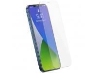 Folie Protectie Ecran Baseus pentru Apple iPhone 12 / Apple iPhone 12 Pro, Sticla securizata, Full Face, Full Glue, Set 2buc, 0.25mm, Neagra