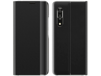 Husa Textil OEM Sleep Case pentru Xiaomi Redmi Note 10 / Xiaomi Redmi Note 10S, Neagra