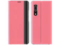 Husa Textil OEM Sleep Case pentru Xiaomi Redmi Note 10 Pro, Roz