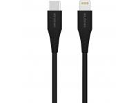 Cablu Date si Incarcare USB Type-C la Lightning Swissten, 0.4 m, Negru