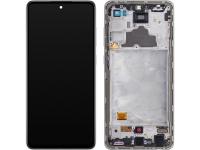 Display - Touchscreen Samsung Galaxy A72 4G, Cu Rama, Alb GH82-25460D