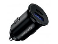 Incarcator Auto USB Swissten, Quick Charge, 36W, 1 X USB - 1 X USB Tip-C, Negru