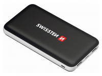 Baterie Externa Powerbank Swissten Black Core, 10000 mA, 2 x USB, Standard Charge (5V), Neagra