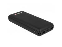 Baterie Externa Powerbank Swissten Black Core, 20000 mA, 2 x USB, Standard Charge (5V), Neagra