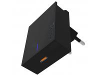Incarcator Retea USB Swissten Travel, Suport Device, Quick Charge, 18W, 1 X USB Tip-C, Negru