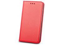 Husa Piele OEM Smart Magnet pentru Xiaomi Redmi Note 10 Pro, Rosie