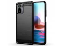 Husa TPU OEM Carbon pentru Xiaomi Redmi Note 10 / Xiaomi Redmi Note 10S, Neagra