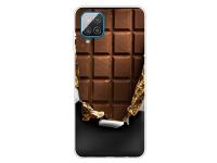 Husa TPU OEM Shockproof Painted Chocolate pentru Samsung Galaxy A12 A125, Multicolor