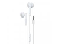 Handsfree Casti EarBuds WK-Design YA01, Cu microfon, 3.5 mm, Alb