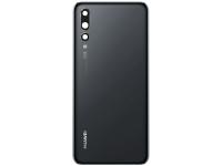 Capac Baterie - Geam Camera Spate Huawei P20 Pro, Negru 02351WRP