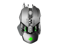 Mouse Wired USB Inphic PG1, Gaming, RGB, Argintiu