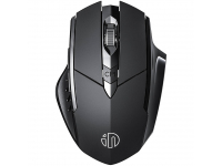 Mouse Wireless Inphic PM6S, WiFi 2.4 Ghz / Bluetooth 5.0 / 4.0, Negru