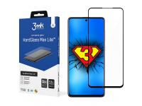 Folie Protectie Ecran 3MK HardGlass Max Lite pentru Samsung Galaxy A71 A715 / Samsung Galaxy A72 4G, Sticla securizata, Full Face, Full Glue, Neagra