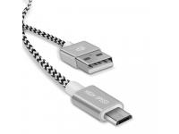 Cablu Date si Incarcare USB la MicroUSB DUX DUCIS K-TWO KII, Set 2 Buc (0.2 m / 1m), 2A, Argintiu