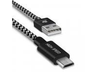 Cablu Date si Incarcare USB la MicroUSB DUX DUCIS K-ONE Series, 3 m, 2.1A, Negru
