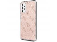 Husa Plastic - TPU Guess 4G Peony Glitter pentru Samsung Galaxy A52 A525 / Samsung Galaxy A52 5G, Roz GUHCA52PCU4GLPI