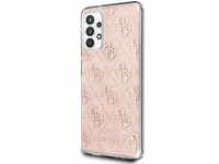 Husa Plastic - TPU Guess 4G Peony Glitter pentru Samsung Galaxy A32 5G A326, Roz GUHCA32PCU4GLPI