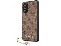 Husa TPU Guess Charms 4G pentru Samsung Galaxy A52 A525 / Samsung Galaxy A52 5G, Maro GUHCA52GF4GBR