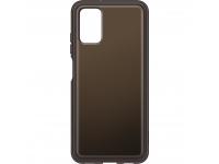 Husa TPU Samsung Galaxy A03s, Clear Cover, Neagra EF-QA038TBEGEU