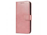 Husa Piele OEM Leather Flip Magnet pentru Samsung Galaxy A02s A025F, Roz