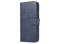 Husa Piele OEM Leather Flip Magnet pentru Samsung Galaxy A52 A525 / Samsung Galaxy A52 5G, Bleumarin