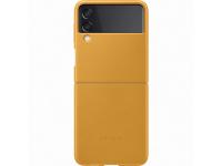 Husa Piele Samsung Galaxy Z Flip3 5G, Leather Cover, Galbena EF-VF711LYEGWW