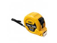 Ruleta Deli Tools EDL9075Y, 7.5m / 25mm