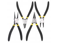 Cleste Deli Tools EDL104407, 7inch, Curbat, Set 4 bucati