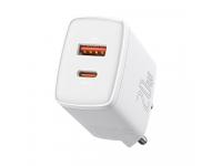Incarcator Retea USB Baseus Compact, Quick Charge, 20 W, 1 X USB - 1 X USB Tip-C, Alb CCXJ-B02
