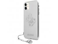 Husa Piele Guess Big 4G Logo Silver pentru Apple iPhone 11, Transparenta GUHCN61KS4GSI