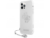 Husa Plastic - TPU Guess Big 4G Logo Silver pentru Apple iPhone 12 Pro Max, Transparenta GUHCP12LKS4GSI