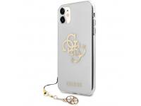 Husa Piele Guess Big 4G Logo Gold pentru Apple iPhone 11, Transparenta GUHCN61KS4GGO