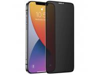 Folie Protectie Ecran Nevox pentru Apple iPhone 12 mini, Sticla securizata, Full Face, Full Glue, 3D Privacy, 0.33mm