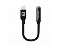 Adaptor Audio USB Type-C la 3.5 mm Swissten, 0.15 m, Negru