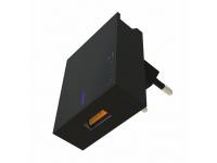 Incarcator Retea USB Swissten Travel, Quick Charge, 22.5W, 1 X USB, Negru