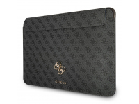 Husa Laptop Guess 4G Metal Logo, 13 inci, Gri Neagra GUCS13G4GFGR