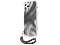 Husa Plastic - TPU Guess Marble pentru Apple iPhone 12 Pro Max, Gri GUHCP12LKSMAGR