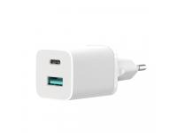 Incarcator Retea USB XO Design HN238A, Quick Charge, 30W, 1 X USB - 1 X USB Tip-C, Alb