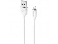 Cablu Date si Incarcare USB la Lightning Borofone Benefit BX19, 1 m, Alb