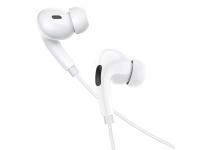 Handsfree Casti In-Ear HOCO M83, Cu microfon, USB Type-C, 1.2m, Alb