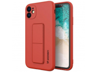 Husa TPU WZK Kickstand pentru Apple iPhone 11, Rosie