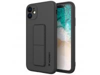 Husa TPU WZK Kickstand pentru Samsung Galaxy A21s A217, Neagra