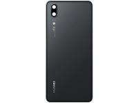 Capac Baterie - Geam Camera Spate Huawei P20, Negru 02351WKS