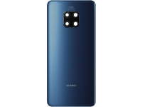 Capac Baterie - Geam Camera Spate Huawei Mate 20 Pro, (Midnight Blue),  Albastru, Swap