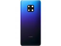 Capac Baterie - Geam Camera Spate Huawei Mate 20 Pro, (Twilight), Albastru, Second Hand