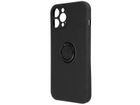 Husa TPU OEM Finger Grip pentru Apple iPhone 11, Neagra