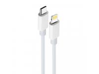 Cablu Date si Incarcare USB Type-C la Lightning MaXlife MXUC-05, 2 m, Alb